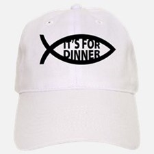 Dinner Fish Symbol Baseball Baseball Cap