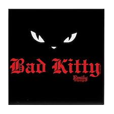 Bad Kitty Eyes Tile Coaster