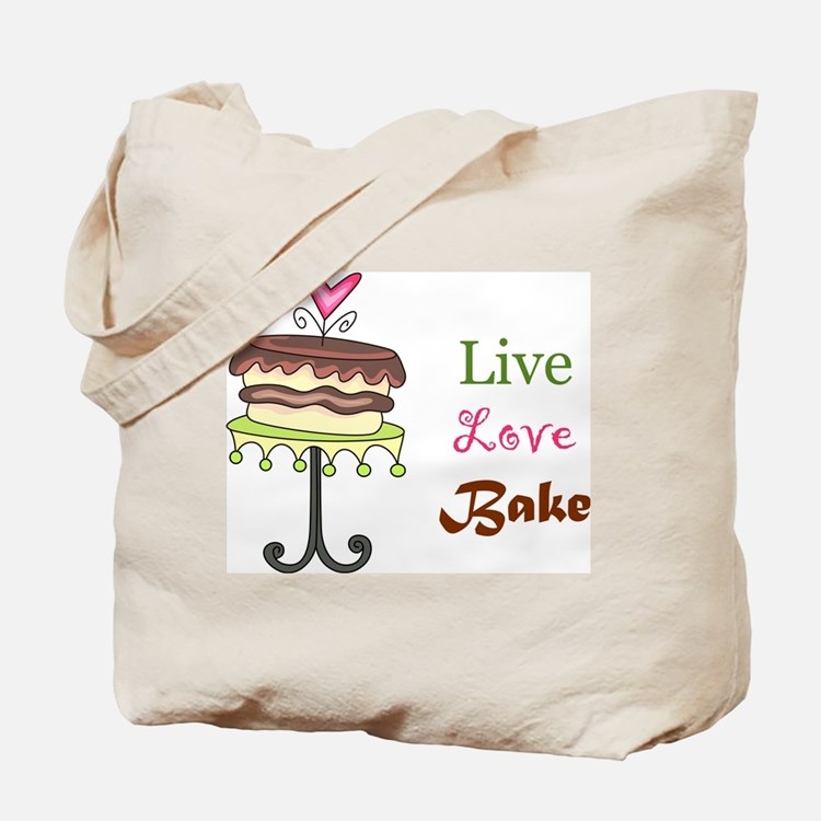 Live Love Bake Tote Bag