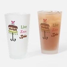 Live Love Bake Drinking Glass