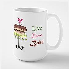 Live Love Bake Large Mug