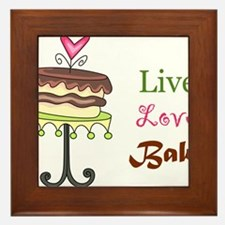 Live Love Bake Framed Tile