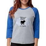 FIN-bulldogs-in-heaven.png Womens Baseball Tee
