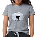 FIN-bulldogs-in-heaven.png Womens Tri-blend T-Shir