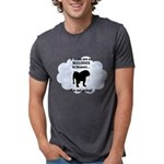 FIN-bulldogs-in-heaven.png Mens Tri-blend T-Shirt