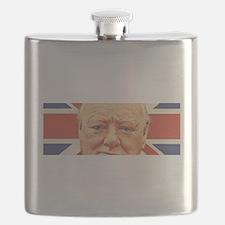 Winston Churchill Flask