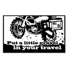 Adventure Bike Rectangle Decal