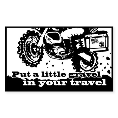 Adventure Bike Rectangle Sticker (Rectangle)