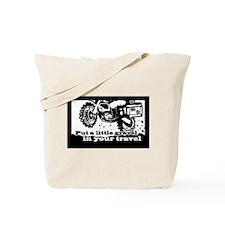 Adventure Bike Rectangle Tote Bag