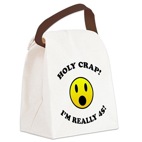 45th Birthday Gag Gifts Canvas Lunch Bag