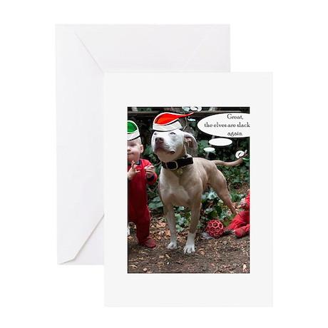 christmasdogs3 Greeting Cards