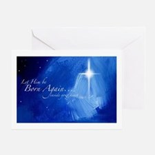Christmas Night Star Greeting Card