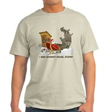 Schmidt House Cartoon Christmas T-Shirt