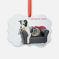 Waiting for Santa Ornament