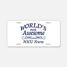 NICU Nurse Aluminum License Plate