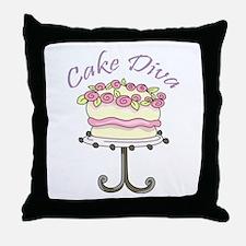 Cake Diva Throw Pillow