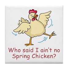 Spring Chicken Tile Coaster