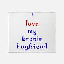 Bronie Boyfriend Throw Blanket