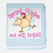 Spring Chicken baby blanket