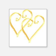 """love love Square Sticker 3"""" x 3"""""""