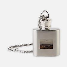 Diamond Head at dusk Flask Necklace