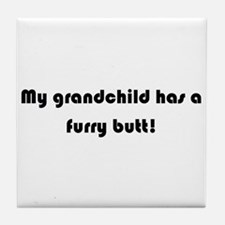 Cute Granddog Tile Coaster