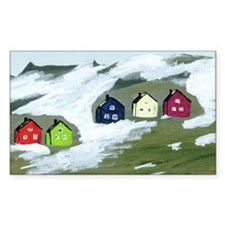 Colorful Winter Houses Decal