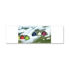 Colorful Winter Houses Car Magnet 10 x 3