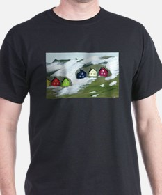 Colorful Winter Houses T-Shirt