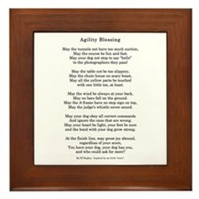 Cute Rally obedience Framed Tile