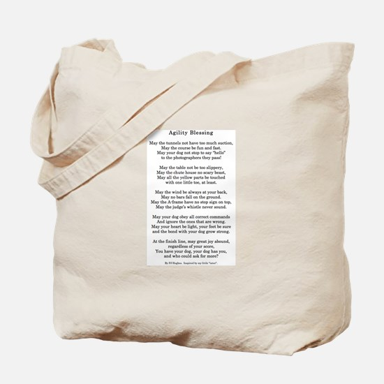 Cute Akc agility Tote Bag