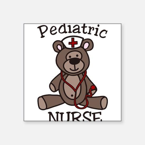 """Pediatric Nurse Square Sticker 3"""" x 3"""""""