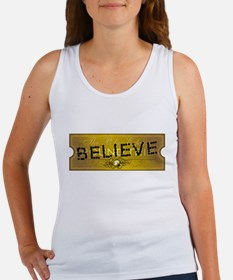 Polar Express Punched Ticket - BELIEVE Women's Tan