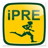 Running prefontaine Square Car Magnets