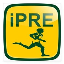 "iPRE Prefontaine Square Car Magnet 3"" x 3"""
