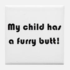Funny Granddog Tile Coaster