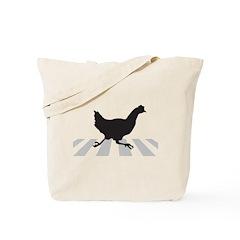 Chicken Crosses Road Tote Bag