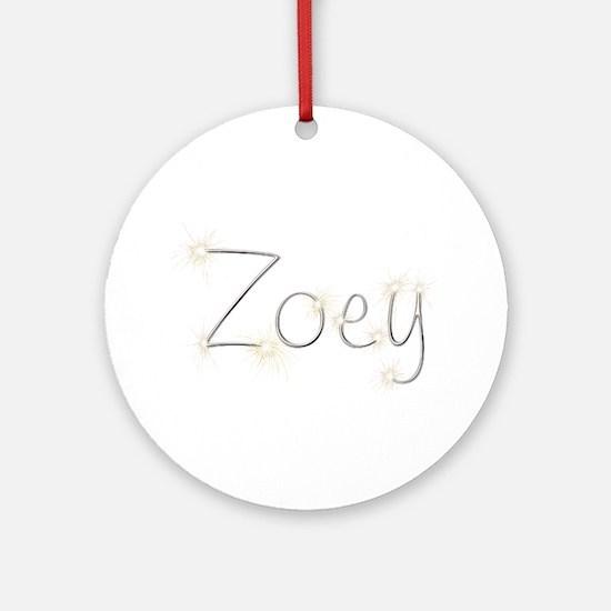 Zoey Spark Round Ornament