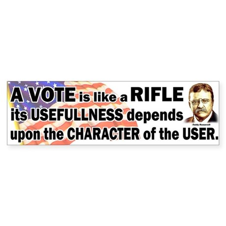 Teddy Roosevelt Quote - A Vote is like a Rifle Sti