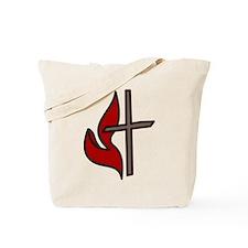 Cross And Flame Tote Bag