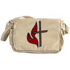 Cross And Flame Messenger Bag