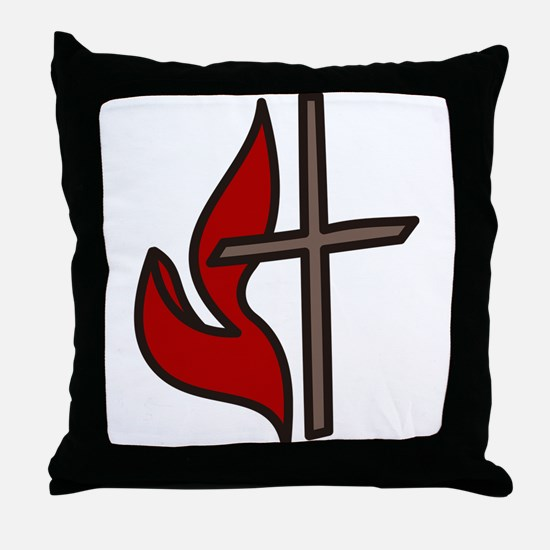 Cross And Flame Throw Pillow
