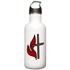 Cross And Flame Sports Water Bottle