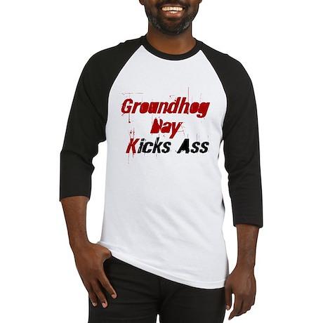Groundhog Day Kicks Ass Baseball Jersey