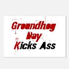 Groundhog Day Kicks Ass Postcards (Package of 8)