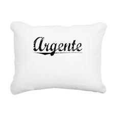 Argente, Aged, Rectangular Canvas Pillow