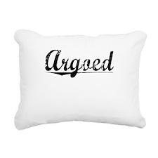 Argoed, Aged, Rectangular Canvas Pillow