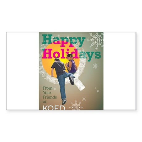 KQED holiday 2012 Sticker (Rectangle)