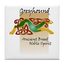 Colorful Celtic Greyhound Tile Coaster