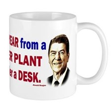 Reagan Quote - Nuclear Power Plant Mug